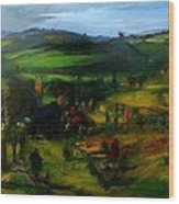 Farm Country Wood Print