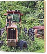 Farm Equipment Wood Print