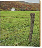 Farm Fence Wood Print