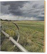 Farm Irrigation Sprinklers Next Wood Print
