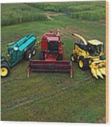 Farm Machinery Wood Print