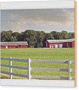 Farm Pasture Wood Print
