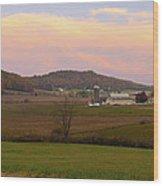 Farm Scene From Knoll On Rt. 41  Wood Print