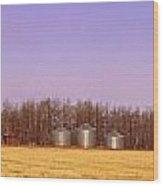 Farm Scene North Of Calgary, Alberta Wood Print