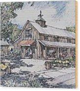Farm Stand Wood Print