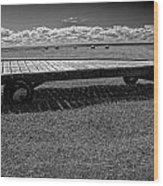 Farm Wagon In A Field On Prince Edward Island Wood Print