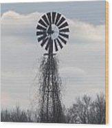 Farm Windmill Wood Print