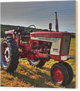 Farmall Tractor In The Sunlight Wood Print