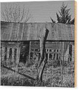 Farmers Building Wood Print