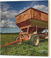 Farmer's Grain Wagon Wood Print
