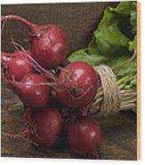 Farmer's Market Beets Wood Print
