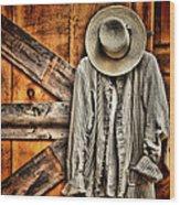 Farmer's Wear Wood Print by Pat Abbott