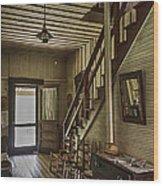 Farmhouse Entry Hall And Stairs Wood Print by Lynn Palmer
