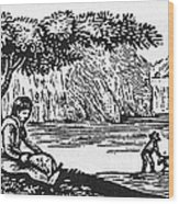 Farming: Almanac Cut Wood Print