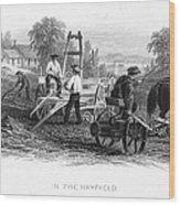 Farming, C1870 Wood Print