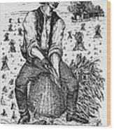 Farming: Corn Husker Wood Print