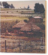 Farming In The Rift Valley Wood Print