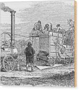 Farming: Threshing, 1851 Wood Print