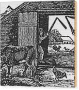 Farming: Threshing Wood Print
