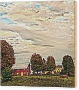 Farms From The Fifties Wood Print