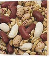 Farro And Beans Wood Print by Fabrizio Troiani