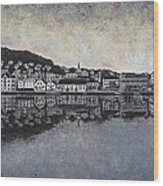 Farsund Waterfront Wood Print by Janet King
