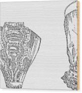 Fashion: Chemisette, 1854 Wood Print