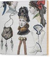 Fashion: Hats, C1875 Wood Print