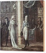 Fashionable Parisians, 1799 Wood Print
