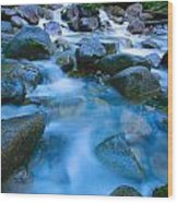 Fast-flowing River Wood Print
