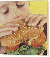 Fast Food Wood Print by Ian Boddy