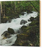 Fast Water Wood Print