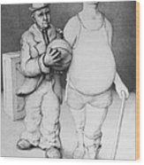 Father And Son Wood Print by Louis Gleason