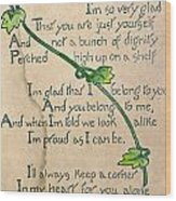 Fathers Day Card, 1912 Wood Print