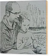 Father's Day Wood Print by Lou Cicardo