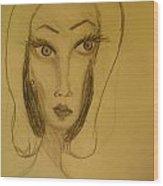 Fawny Eyes Wood Print