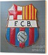 Fc Barcelona Symbol Wood Print