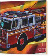 Fdny Engine 68 Wood Print