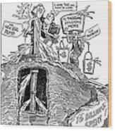F.d.r. Cartoon, 1930s Wood Print