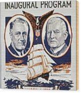 Fdr: Inauguration, 1933 Wood Print