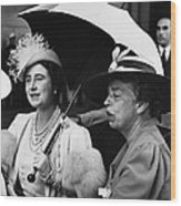 Fdr Presidency. British Queen Elizabeth Wood Print