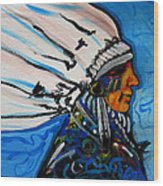 Feather Head Wood Print