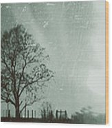 February Wood Print