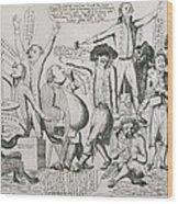 Federalist Cartoon Of 1793 Shows Wood Print