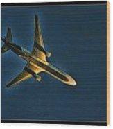 Fedex Plane Wood Print