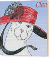 Feline Finery - Claudia Wood Print