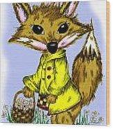 Felix Fox Wood Print