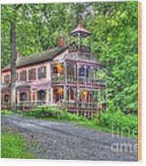 Feltville Historic District Store And Church  Wood Print