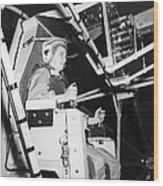 Female Astronaut Training Wood Print