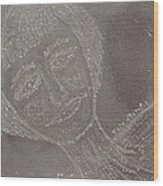 Female  Face  On  Steel  Two Wood Print